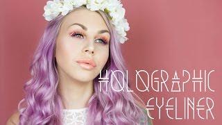 HOLOGRAPHIC EYELINER- Makeup Tutorial