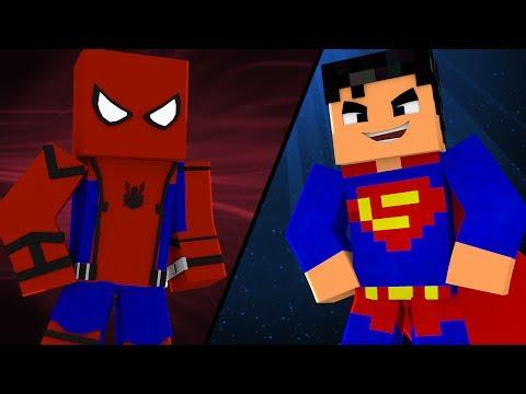Minecraft: Ponte Da Sorte - HOMEM-ARANHA OU SUPERMAN?
