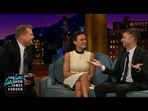 Carla Gugino, Chris Hardwick & James Swoon Over The Rock
