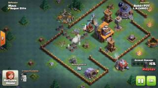 Builder Hall 4 Base - BH4 Builder Base + Defense Replay - Base Layout - Clash of Clans Terbaik