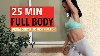 постер к видео 25 min FAT BURN workout at home from a professional (HIIT)