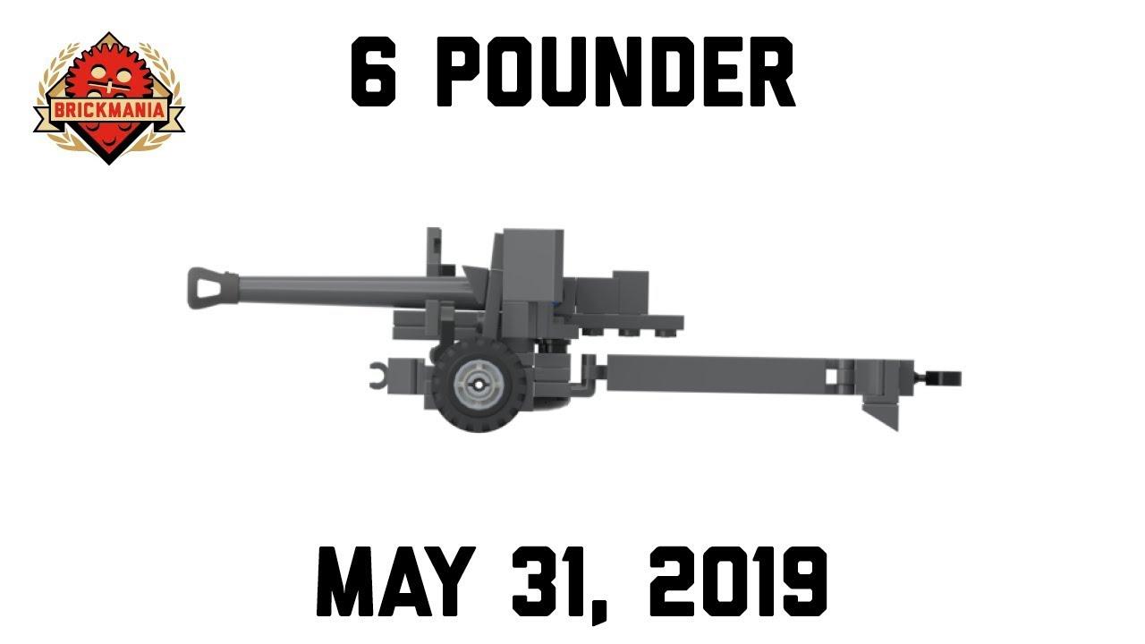 6 Pounder 57mm Anti-Tank Gun - Custom Military Lego