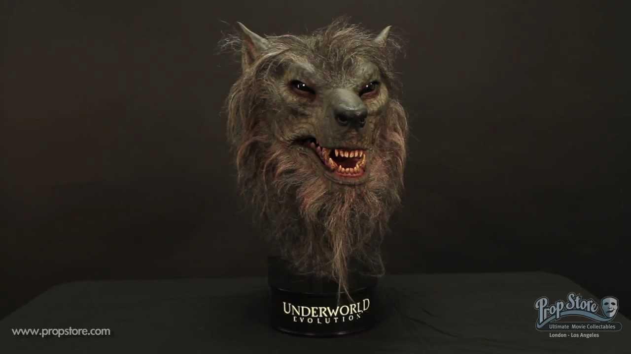 & Underworld Evolution: Original Lycan (Werewolf) Mask Display - YouTube