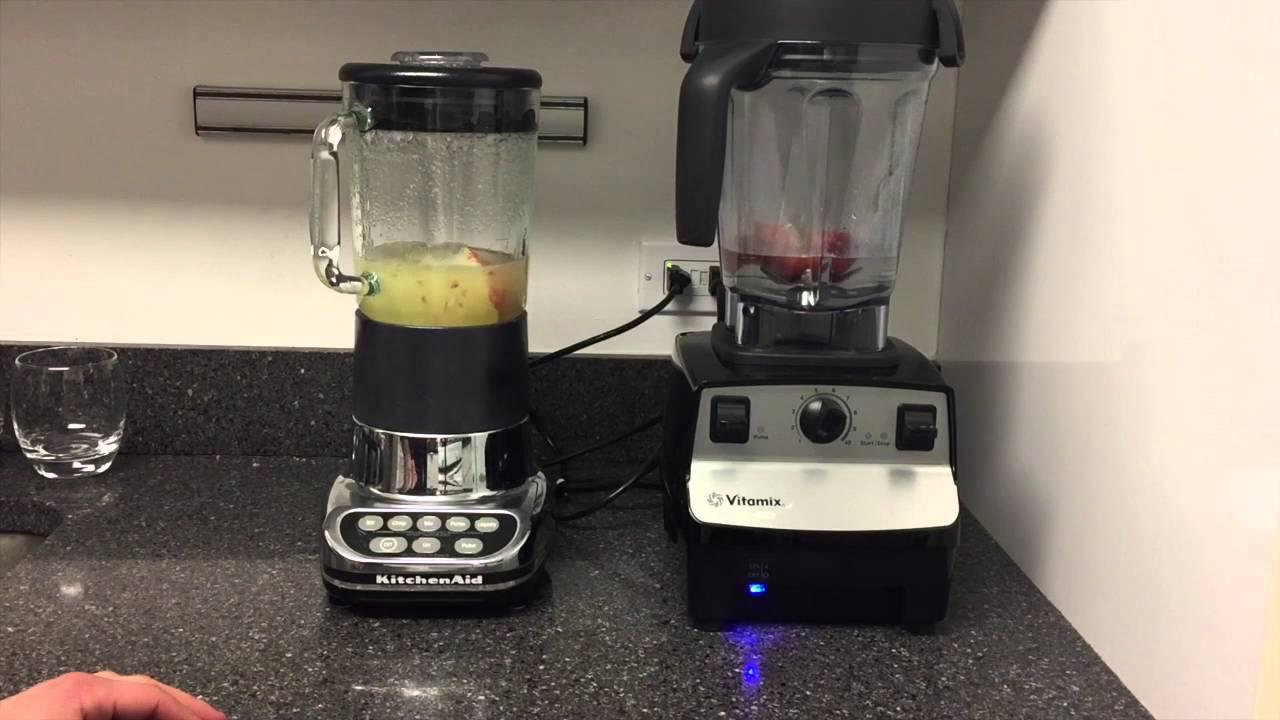 Vitamix 5300 Vs Kitchen Aid 5 Speed Blender Test Apple Juice