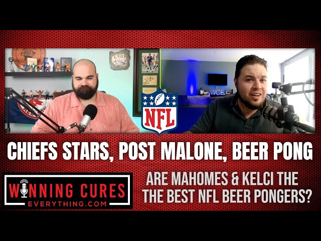 Patrick Mahomes & Travis Kelce beat Post Malone in beer pong badly