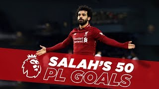 Fastest to Fifty | Mo Salah\'s first 50 Premier League goals for Liverpool