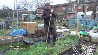 Sean's Allotment Garden #4: Getting ready for Runner Beans & Garlic Planting | February 2013