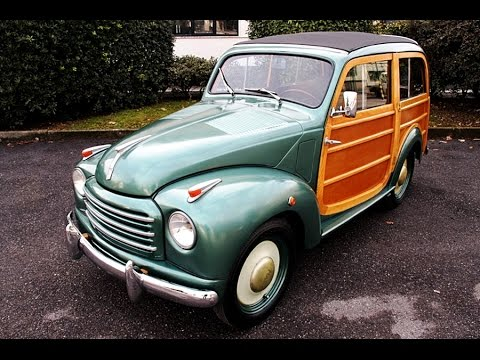 fiat 'topolino' 500 c giardiniera legno, model year 1950 - youtube