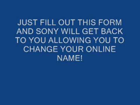 How to change your playstation online id gamertag - YouTube
