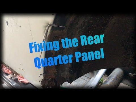 VW Beetle Rear Quarter Panel Repair Part 1