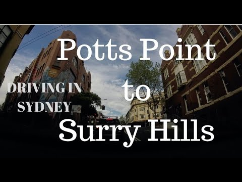 Driving in Sydney september 2018 - Potts Point to Surry Hills
