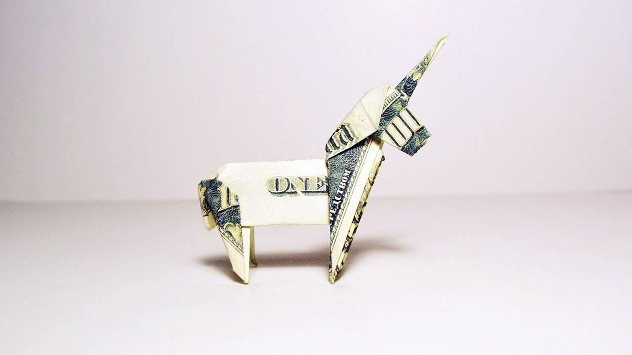 Money Dollar Easy Origami Giraffe- Origami Paper - YouTube | 720x1280