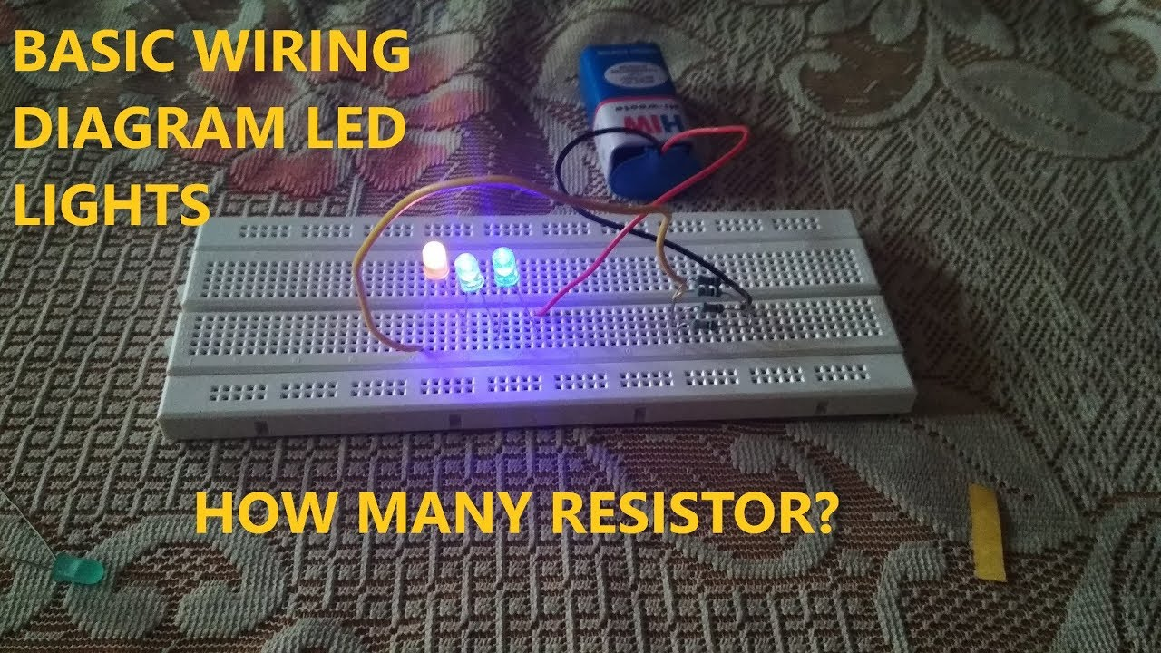 How to wire up led lights with a battery basic wiring guide - YouTube