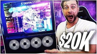 UNBOXING MY NEW $20,000 GAMING PC!!!