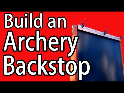 Make an Archery Shooting Target Backstop - DIY