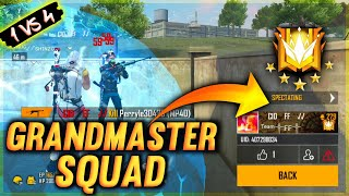 I MET GRANDMASTER SQUAD IN SOLO VS SQUAD RANKED GAME || GARENA FREE FIRE - TONDE GAMER