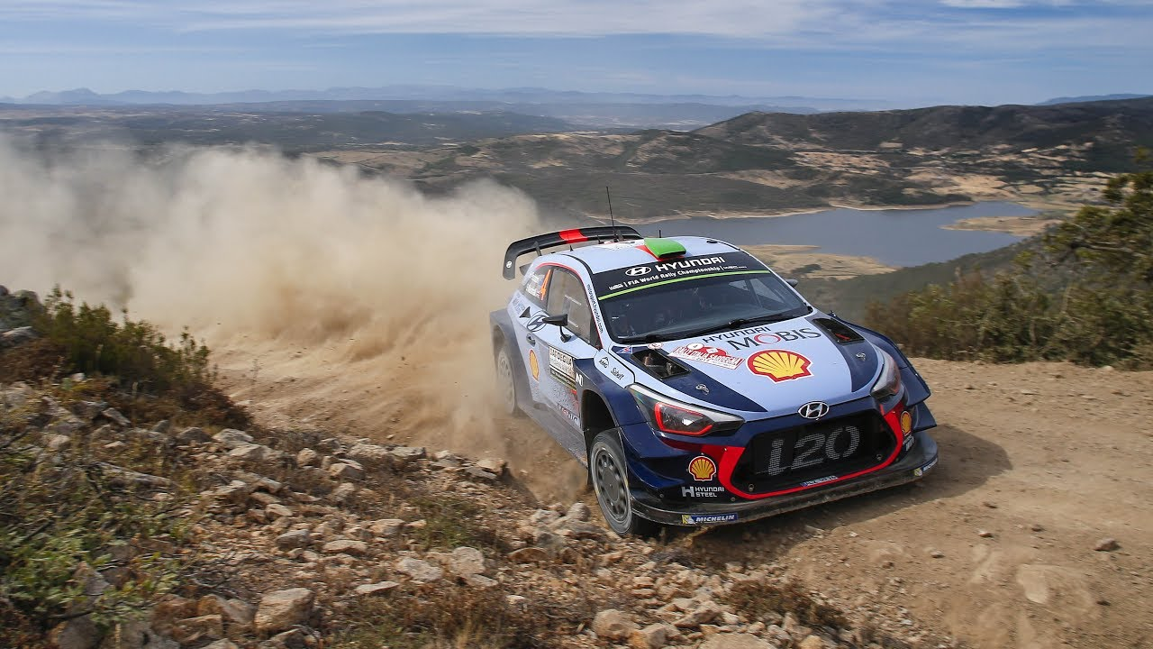 Ride With Dani Sordo And The Hyundai I20 Wrc At Rally Italia Youtube