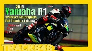 2015 Yamaha R1 with Graves Motorsports Full Titanium System at Mid Ohio