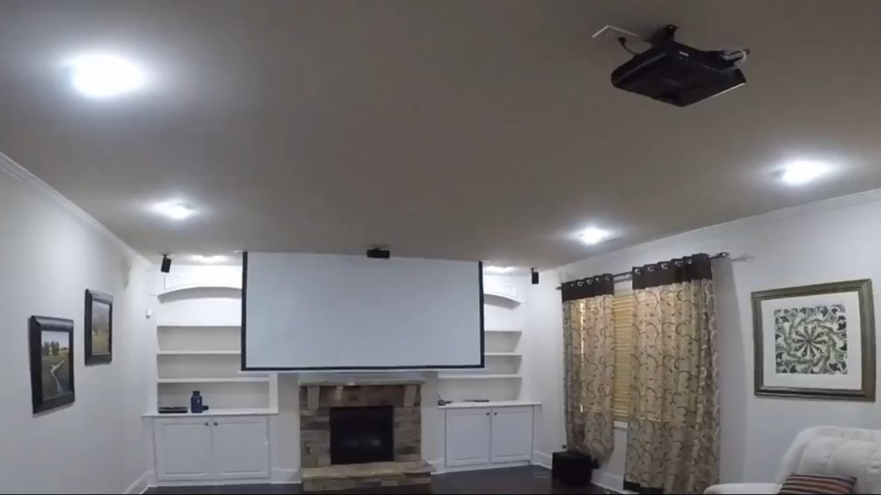 Recessed Projector Screen You