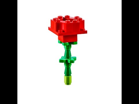 Valentines Day Rose How To Build Lego Classic 10692 Youtube