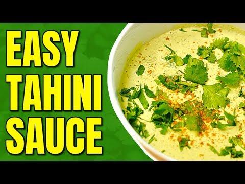 Easy Vegan Tahini Sauce / Vegan Oil Free Salad Dressing