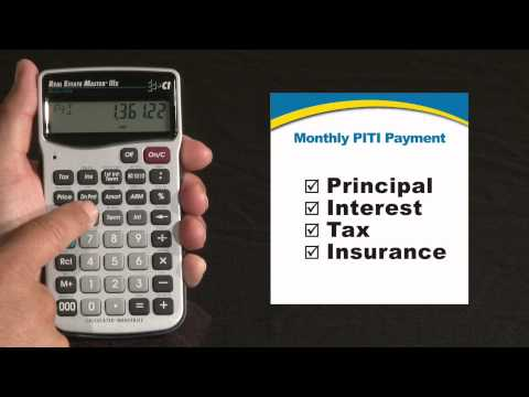 Real Estate Master IIIx Monthly PITI Payment How To