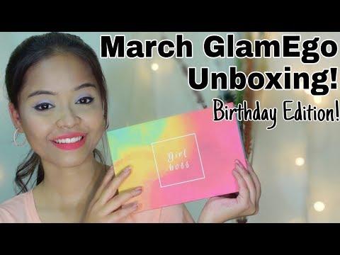 March GlamEgo Box Unboxing Birthday Edition    Sayantani Some , Kolkata , India