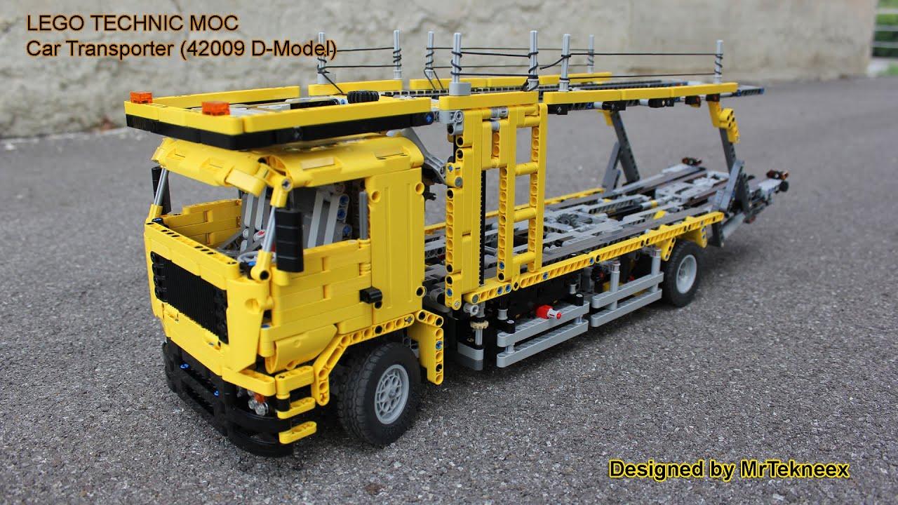 lego technic car transporter 42009 d model youtube. Black Bedroom Furniture Sets. Home Design Ideas