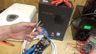 Подключение стабилизатора напряжения с клеммной колодкой