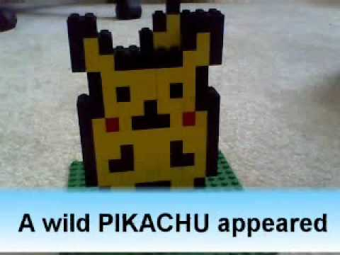 How To Make Lego Pikachu And Pokeball Youtube
