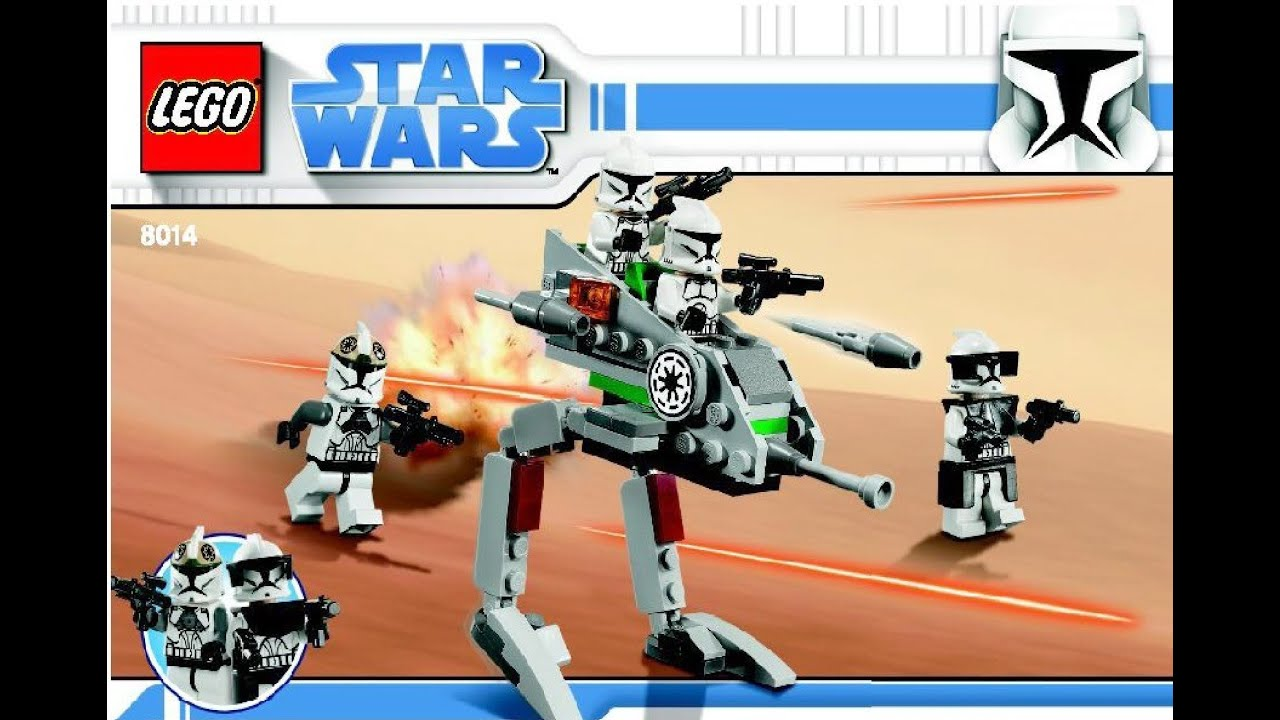 Lego Star Wars Instructions For 8014 Clone Walker Battle Pack