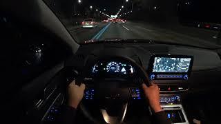 2021 Hyundai Kona EV POV night drive