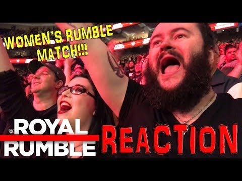 WWE WOMEN'S ROYAL RUMBLE MATCH!!! LIVE REACTION