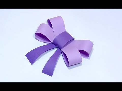 Simple paper bow. Foam bow. Ribbon bow. Gift wrapping!