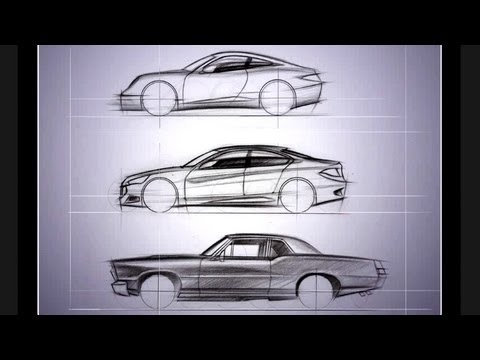 "Architecture Drawing Cars learn ""how to draw cars now"" - youtube"