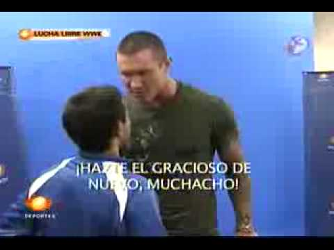 Randy Orton goes of an Mexican Reporter
