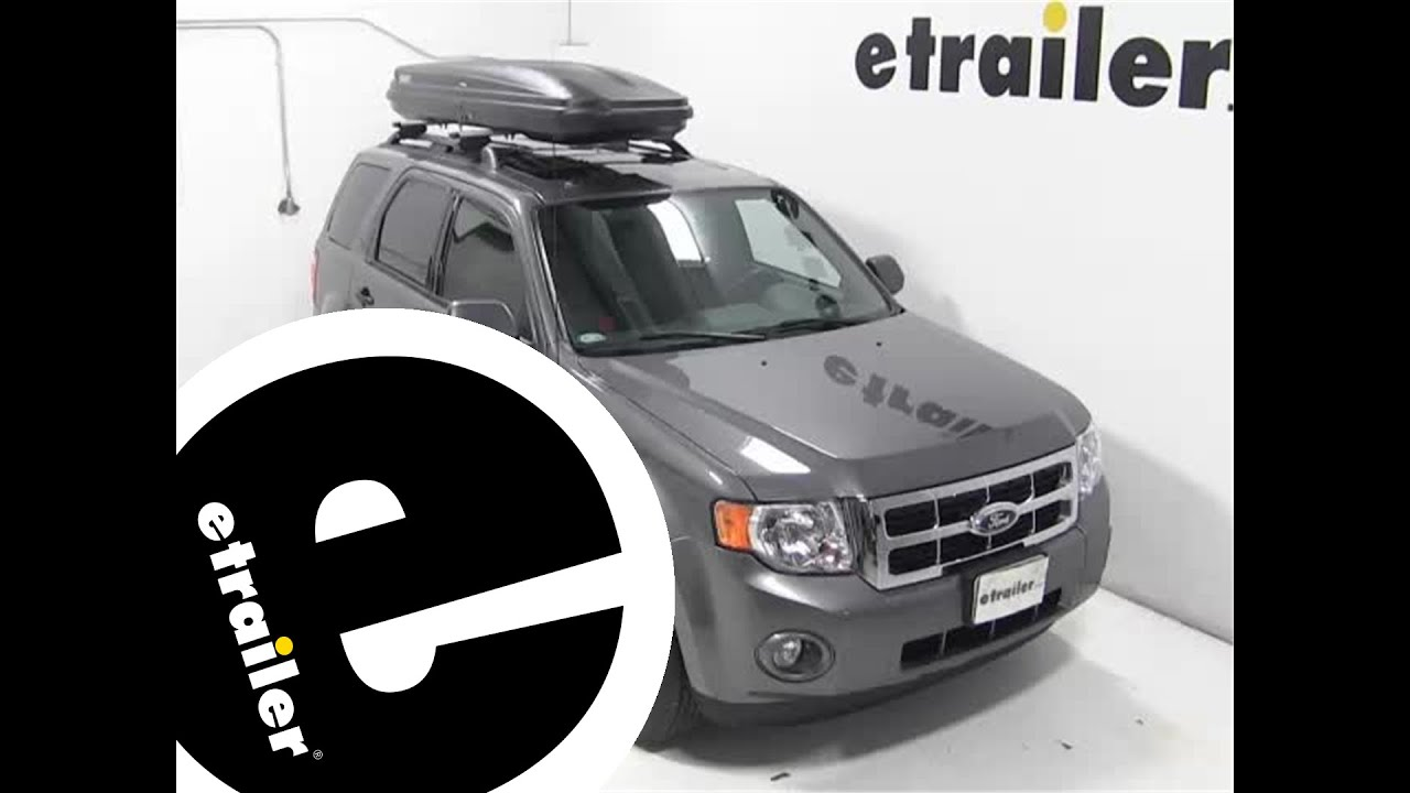 Review of the thule pulse alpine rooftop cargo box on a 2012 ford escape etrailer com