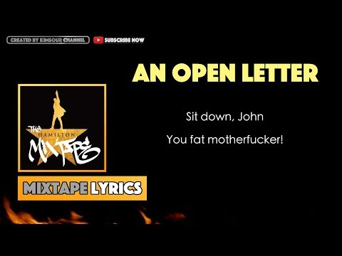 The Hamilton Mixtape - An Open Letter (Interlude) Music Lyrics