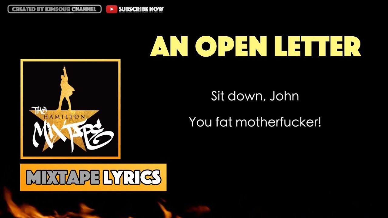 The Hamilton Mixtape   An Open Letter (Interlude) Music Lyrics