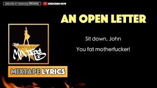 The Hamilton Mixtape - An Open Letter (Interlude) Music Lyrics