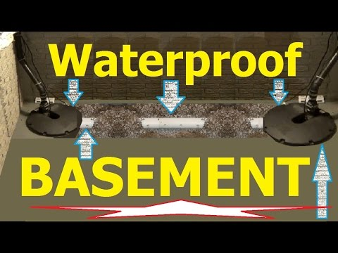 PERIMETER DRAINS How to install BASEMENT perimeter drain systems STOP basement flooding