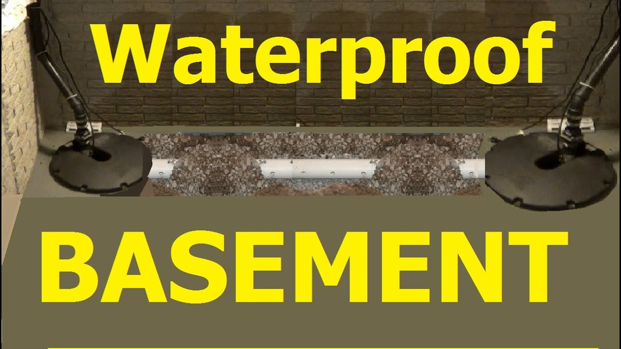 PERIMETER DRAINS How To Install BASEMENT Perimeter Drain