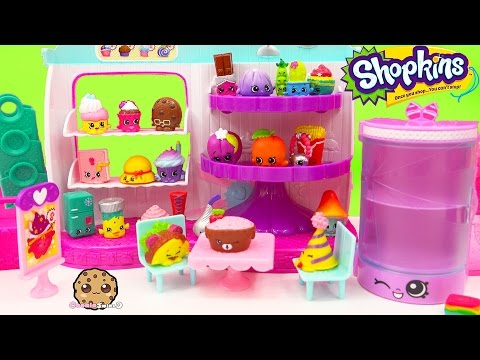 Season 4 & 3 Shopkins 12 Pack With 2 Blind Bags At Cupcake Queen Playset - Toy Video Cookieswirlc