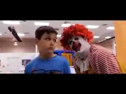 Clown in a party. Joke