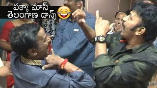 Rajashekar and Venu Madhav Teenmar Dance affer Winning in MAA Elections 2019   Daily Culture