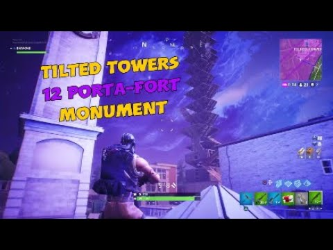 Tilted Towers Wake Ceremony Porta-Fort Monument