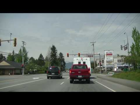 Maple Ridge Tour - British Columbia (BC) Canada - Driving in the City on Lougheed Highway