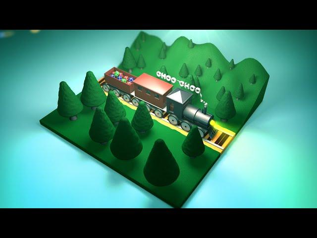 Art Stream : Train Scene in C4D