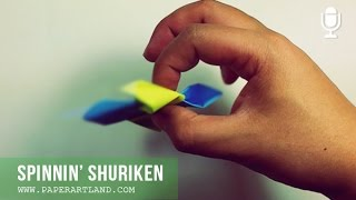 TUTORIAL De ORIGAMI - Let's Make A Paper Spinnin' Shuriken ( Free For Everyone )