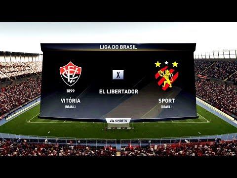 EC VITÓRIA X SPORT RECIFE ( 1080p / 60FPS ) - FIFA 18